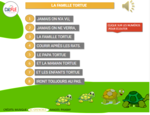 Read more about the article Comptine – La famille Tortue