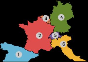 Connais-tu les pays limitrophes de la France?