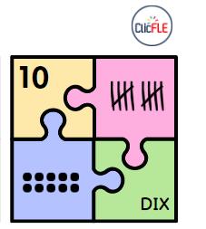 Read more about the article Puzzle  à imprimer – Les nombres – 1 – 10