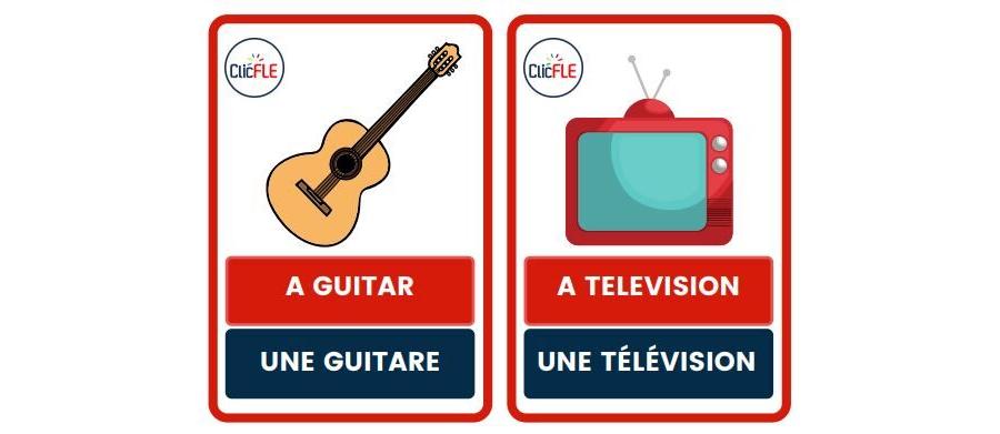 Cartes images - anglais - français (Mots transparents)